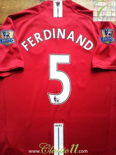 Relive Rio Ferdinand s Premier League season with this vintage Nike  Manchester United home football shirt. 74be41ef25425