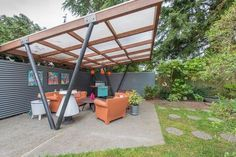 Party patio, mid-century modern style