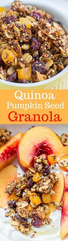 Quinoa-Pumpkin Seed Granola | www.savingdessert.co…