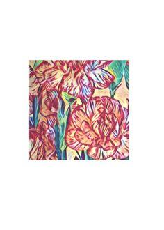 Carnation Men's Silk Pocket Square