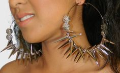Yes I know its too much & yet I love it!Spike Hoop Earrings
