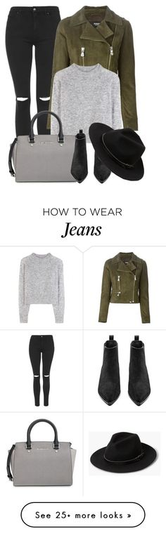 """What I'd Wear"" by monmondefou on Polyvore featuring Topshop, Versus, Wood Wood, MICHAEL Michael Kors, Acne Studios, MANGO, Fall, black, GREEN and gray"