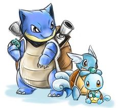 When i first played pokemon red i remember my first pokemon was a squirtle :)po Gen 1 Pokemon, Pokemon Fan Art, Cute Pokemon, Pokemon Stuff, Pokemon Blastoise, Pikachu, Squirtle Squad, Nintendo, Bffs