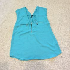 Maurices Top Really cute blue blouse from Maurices! Size Medium and never worn. *****all $8 items in my closet are $8 for 1, $13 for 2, and $16 for 3! Maurices Tops Blouses