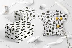 25 Halloween Icon Seamless Patterns by Nadezda Gudeleva on @creativemarket