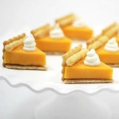 Surprise your guests with a savory cheese appetizer that looks just like a piece of pumpkin pie. It's the perfect fall party finger food.