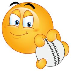 baseball Smiley Emoji, Cute Emoji, Emoji Clipart, Emoji Symbols, Emoji Images, Just A Game, Emoji Wallpaper, Baseball, Smile Face