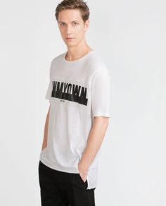 PRINTED LETTERS T-SHIRT