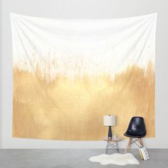 Brushed Gold Wall Tapestry by Caitlin Workman | Society6