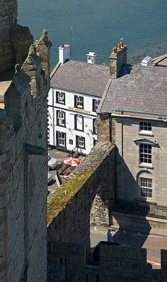 The Anglesey ~ Caernarfon, North Wales castle- great view! The Anglesey is built right into the original castle wall.
