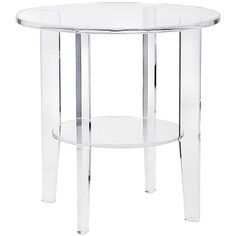 Estelle Acrylic Accent Table ($595) ❤ liked on Polyvore featuring home, furniture, tables, accent tables, acrylic table and acrylic furniture