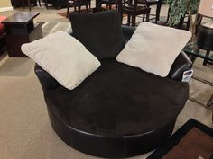 Victory  Chocolate Oversized Swivel Accent #Chair At Your Ashley #Furniture  Homestore In #