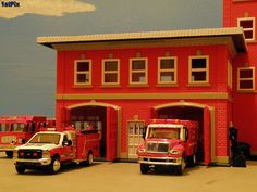 Fire Station Roll-out: 1/87 Diorama - http://www.tutorfrog.com/fire-station-roll-out-187-diorama/  #Toys #cooltoys