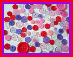 This Auction Is For100Assorted Bright Colored Craft ButtonsThe craft possibilities are endless with this collection of plastic buttons! In a variety of assorted colors these beautiful buttons are an essential for scrapbook pages sewing crafts school art projects and other activities. This picture