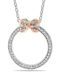 Take a look at this Diamond & Rose Gold Bow Pendant Necklace by Delmar on #zulily today!