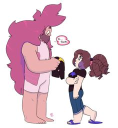 Harsh Boogie.OK,OK its Rose as a human and Greg as a gem