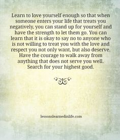 Lessons Learned in Life | Stand up for yourself.