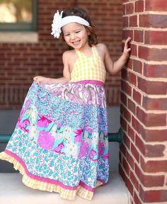 RuffleButts Summer Print Maxi Dress