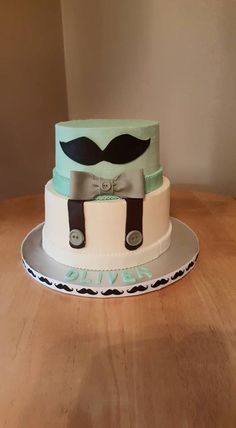 Baby shower cake for a little gentleman.