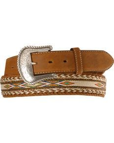 Tony Lama Horsehair Ribbon Leather Belt, Bark, hi-res Cowgirl Chic, Cowgirl Boots, Cowboy Hats, Tony Lama Boots, Belt Without Buckle, Work Belt, Outfit Invierno, Cowboy Outfits, Western Belts