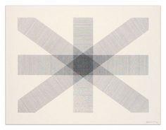 Sol Lewitt 'Bands of Lines in Four Directions' 1977