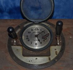 Vintage CALCULAGRAPH Time Clock Telephone Calculagraph Co., NY with Key ! #CalculagraphCompanyNY