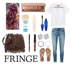 """Fringe 🙄"" by agrava ❤ liked on Polyvore featuring Rebecca Minkoff, Vineyard Vines, Current/Elliott, Billabong, Urban Decay, Maybelline and L'Oréal Paris"