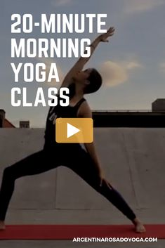 20-Minute morning yoga class video - Vinyasa Flow - Argentina Rosado Yoga - New York - Great class for beginners