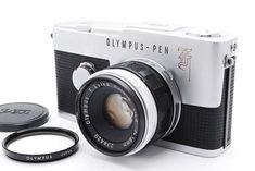 OLYMPUS PEN-F 35mm Half Frame Camera F.Zuiko 38mm f/1.8 Lens from Jpn *Exc+++*  #Olympus