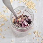 Cocnut vanilla Overnight Oats in a Jar