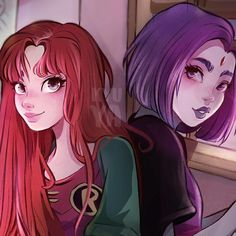 Starfire and Your best friend raven