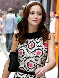 Blair from Gossip Girl has the headband look down. It's been fun to find some bling headbands to try this with.