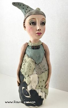 """Grace"". Polymer clay figure by Lisa Renner."