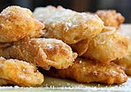 Goreng Pisang. Melt-in-Your-Mouth Fried Bananas with coconut and dusted with icing sugar.