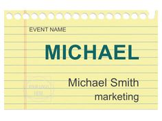 Best Free Name Tag Designs Images On Pinterest Name Badges - Event name tag template