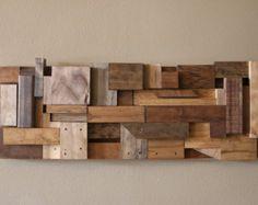 Reclaimed wood art/ Wood Wall Art/ Scrap Wood Art/ Hanging Wood Art by WoodWarmth on Etsy Diy Wooden Wall, Wood Wall Decor, Wooden Art, Wooden Walls, Wooden Decor, Art Decor, Home Decor, Scrap Wood Art, Scrap Wood Projects