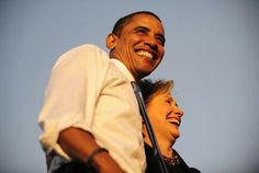 President Barack Obama With Hillary Rodham Clinton....