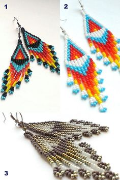 Native Beaded Earrings-Seed Bead Earrings With от Galiga на Etsy
