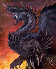 This monster is called an Alatreon, it is a huge wyvern type monster that can fly. This monster's main attack is to breather fire at the enemy, it can also use parts of it's body to attack people.