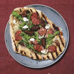 Grilled Sausage and Fig Pizza with Goat Cheese (I've made it, it's noms.)