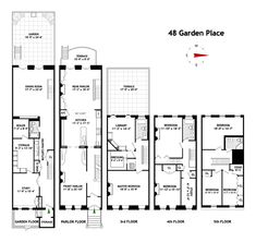 New York Brownstone Floor Plans. Modify for California by