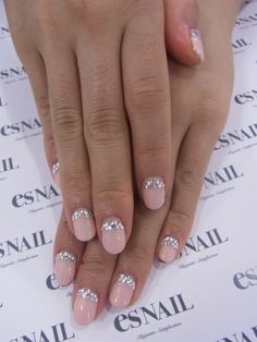 Pale pink and diamonties- perfect! So cute!
