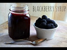 How To Make Blackberry Syrup | Spoon And Saucer
