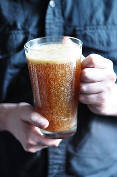 Harry Potter - Vegan Butterbeer - INGREDIENTS - 1 cup brown sugar - 2 tablespoons water - 6 tablespoons Earth Balance margarine, cubed - ½ teaspoon cider vinegar - 1 can light coconut milk - ½ teaspoon rum extract - large bottle plain (i.e. not pink) cream soda (I used a 1.5 L of Fanta)