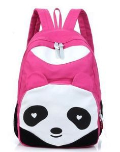 Free shipping Casual canvas backpack school bag student backpack panda backpack