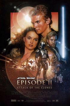 Star Wars Episódio 2, Film Star Wars, Star Wars Watch, Star Wars Poster, Anakin Skywalker, Hayden Christensen, Disney Marvel, Cadeau Star Wars, Cuadros Star Wars