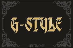 G-Style by Mister Chek on @creativemarket
