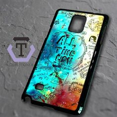 All Time Low Quotes Nebula Samsung Galaxy Note Edge Black Case