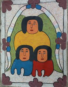 30 x 40 ORIGINAL PAINTING BY THE LATE Haitian Master PROSPERE PIERRE LOUIS #NAIVE