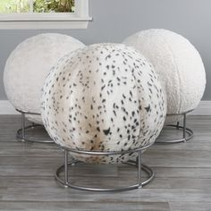 Shop for Aurora Home Faux Fur 65cm Yoga Ball Chair. Get free shipping at Overstock.com - Your Online Home Decor Outlet Store! Get 5% in rewards with Club O!
